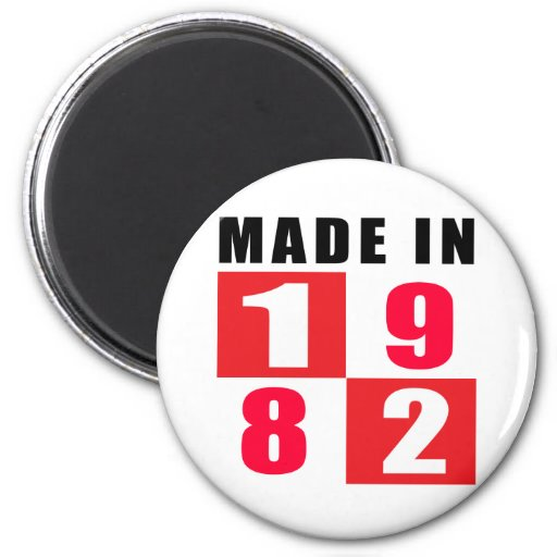 Made In 1982 Birthday Designs Magnet