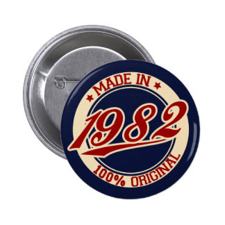 Made In 1982 Pin