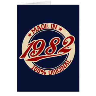 Made In 1982 Card