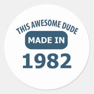 Made in 1982 classic round sticker