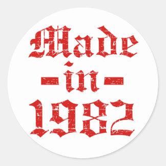 Made in 1982 designs classic round sticker