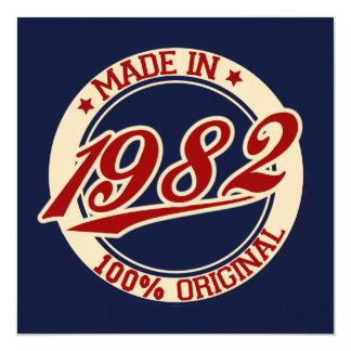 Made In 1982 Personalized Invite