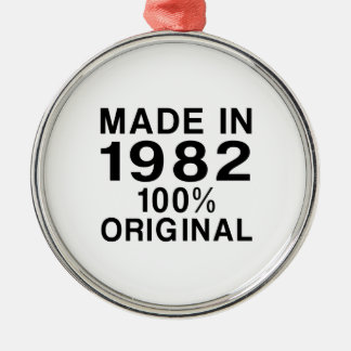 Made In 1982 Metal Ornament