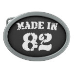 Made In 1982 Oval Belt Buckles