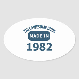 Made in 1982 oval sticker