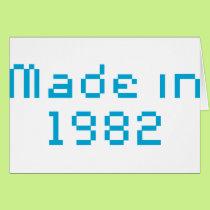 Made in 1982 shirt card