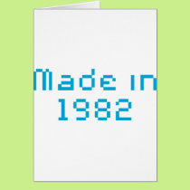 Made in 1982 shirt card