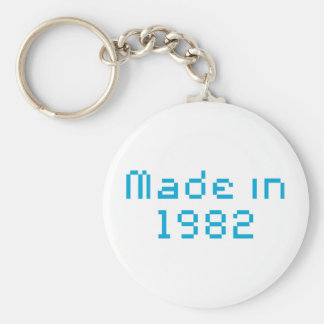 Made in 1982 shirt keychain