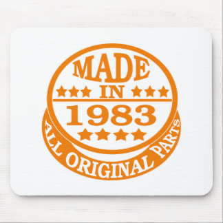 Made in 1983 all original parts mousepad