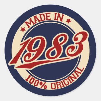 Made In 1983 Classic Round Sticker