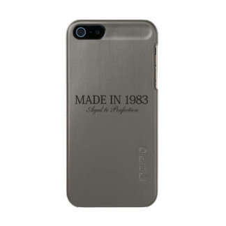 Made in 1983 metallic phone case for iPhone SE/5/5s