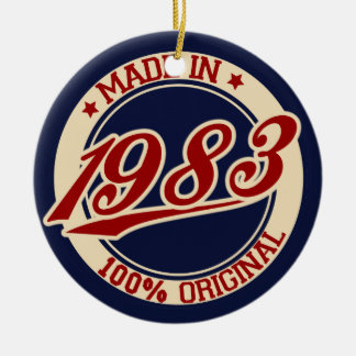 Made In 1983 Ornaments