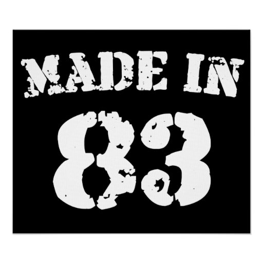 Made In 1983 Poster