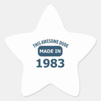Made in 1983 star sticker
