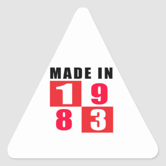 Made In 1983 Triangle Stickers