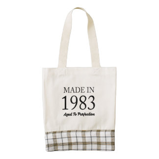 Made In 1983 Zazzle HEART Tote Bag