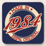 Made In 1984 Drink Coasters