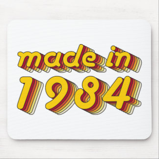 Made in 1984 (Yellow&Red) Mouse Pad