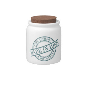 Made in 1985 candy jar