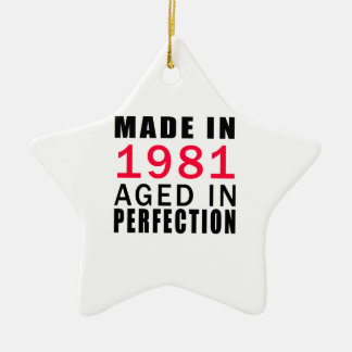 Made In 1986 Aged In Perfection Double-Sided Star Ceramic Christmas Ornament