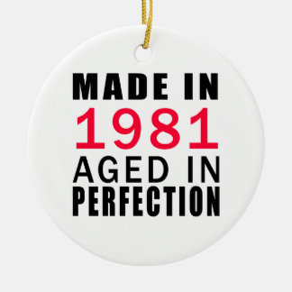 Made In 1986 Aged In Perfection Double-Sided Ceramic Round Christmas Ornament