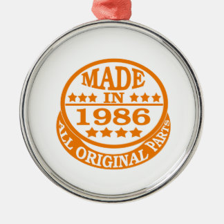Made in 1986 all original parts round metal christmas ornament