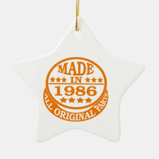 Made in 1986 all original parts Double-Sided star ceramic christmas ornament