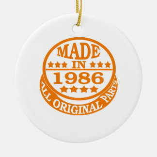 Made in 1986 all original parts Double-Sided ceramic round christmas ornament