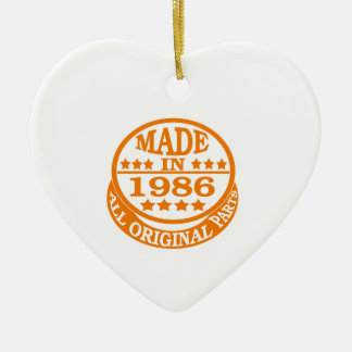 Made in 1986 all original parts Double-Sided heart ceramic christmas ornament