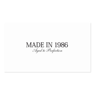 Made in 1986 Double-Sided standard business cards (Pack of 100)