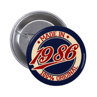 Made In 1986 Button