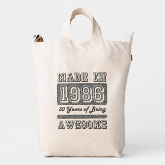 Made in 1986 duck bag