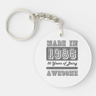 Made in 1986 keychain