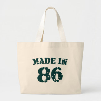Made In 1986 Large Tote Bag