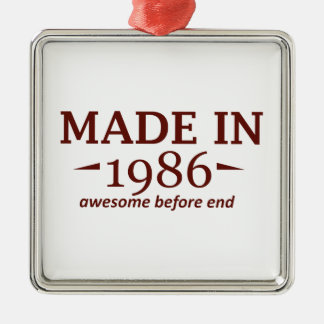 Made in 1986 metal ornament
