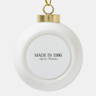 Made in 1986 ceramic ball christmas ornament