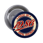 Made In 1986 Pinback Button