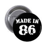 Made In 1986 Pinback Buttons