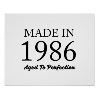 Made In 1986 Poster