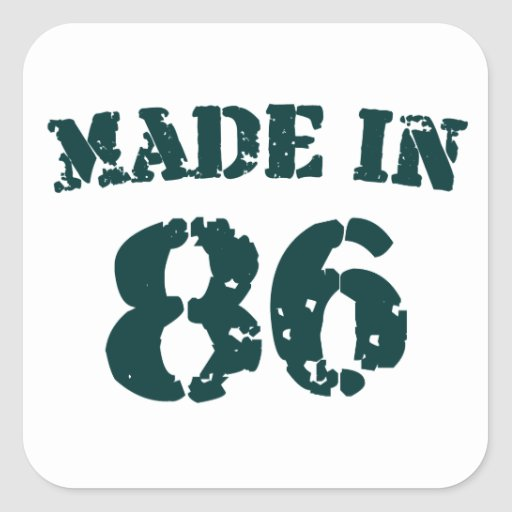 Made In 1986 Square Sticker