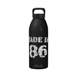 Made In 1986 Reusable Water Bottle