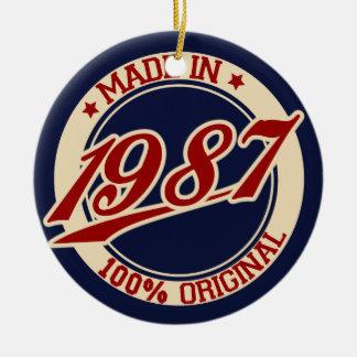 Made In 1987 Ceramic Ornament