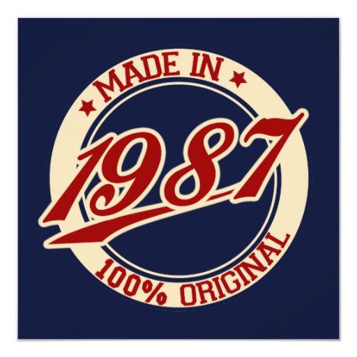 Made In 1987 Invitation