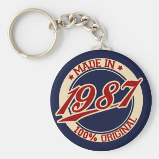 Made In 1987 Keychain