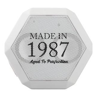 Made In 1987 White Bluetooth Speaker