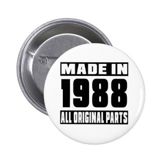 Made in 1988 2 inch round button