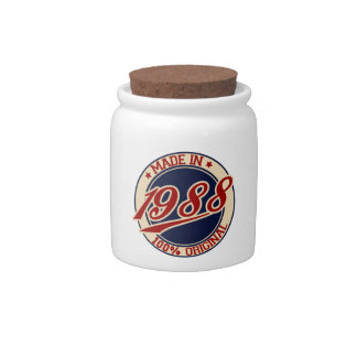 Made In 1988 Candy Jar