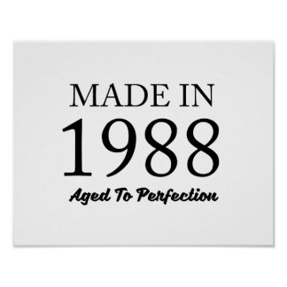 Made In 1988 Poster