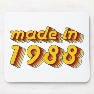 Made in 1988 (Yellow&Red) Mouse Pad