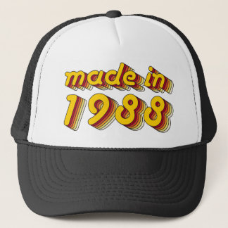 Made in 1988 (Yellow&Red) Trucker Hat